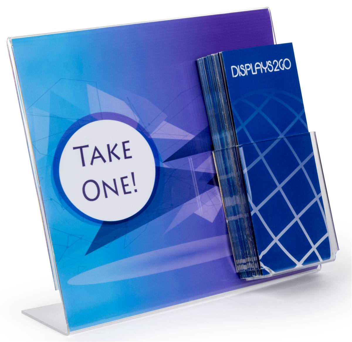 Plastic Tabletop Pamphlet Holder Acrylic Pocket For 4 12 Brochures