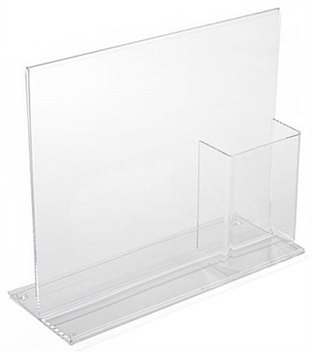 Acrylic Sign Holder with Brochure Holder