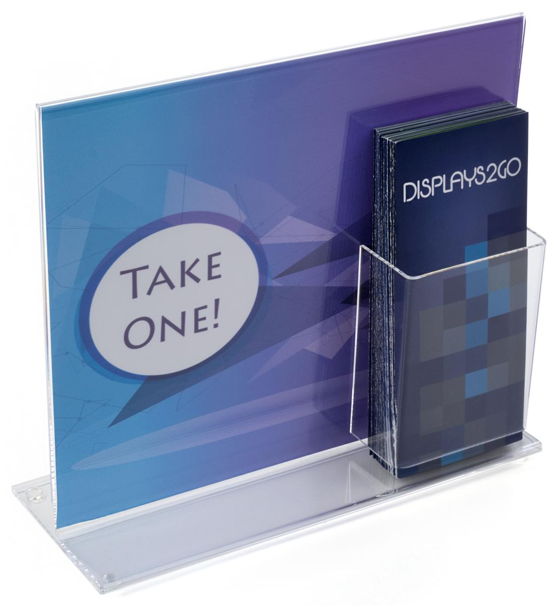Sign Frames With Brochure Holders Plastic Quot T Quot Configuration