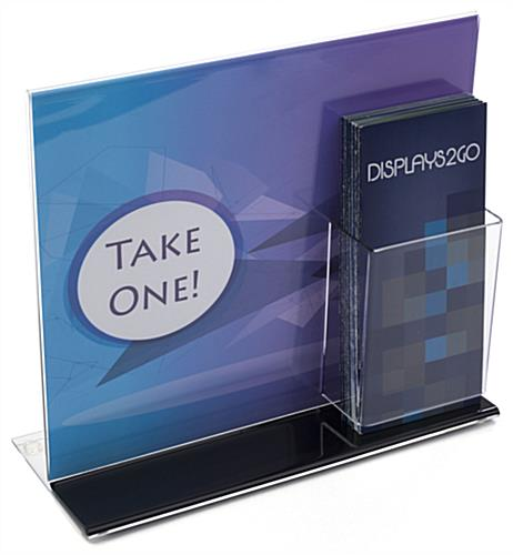 Sign Display Frame with Brochure Pocket