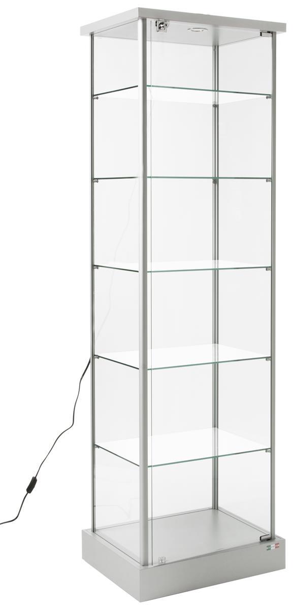 Tempered Glass Display Case Adjustable Shelves Amp Locking