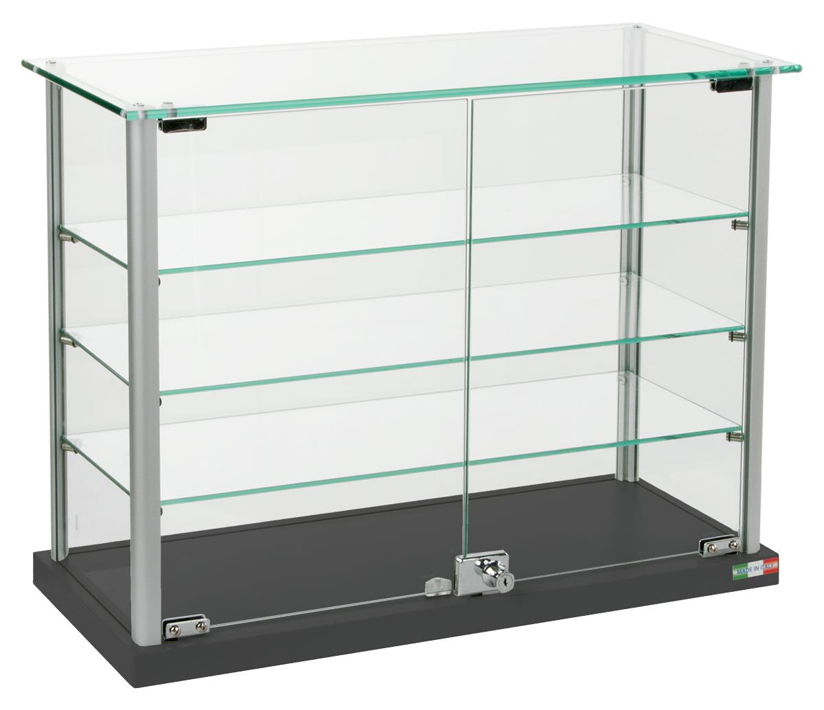 Countertop Display Case 3 Height Adjustable Shelves