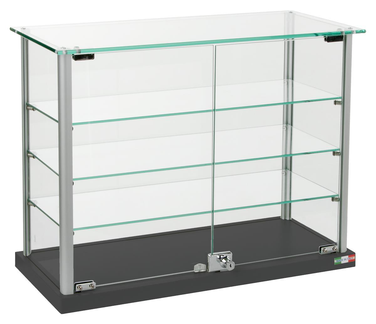 Countertop Display Case 3 Height Adjustable Shelves
