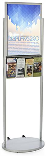 18 x 24 Mobile Poster Stand with 4 Leaflets with Non Glare Lens