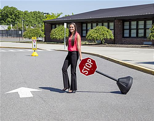 Small Stop Sign with Black Base
