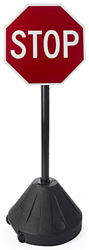 "Small Stop Sign, 48"" Overall Height"