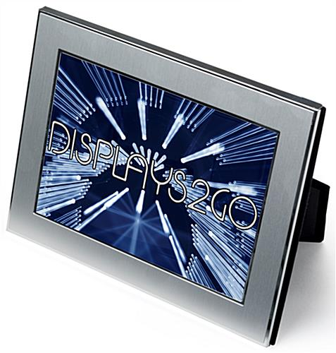 "5"" x 7"" Silver Plated Picture Frames with Reflective Accents"