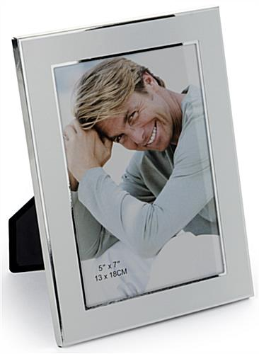 "Metal 5"" x 7"" Silver Plated Picture Frames"