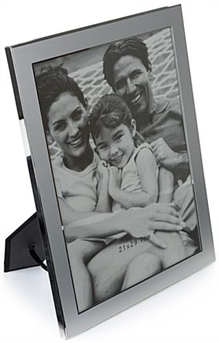 "8"" x 11"" Silver Plated Picture Frames for Wall or Table"