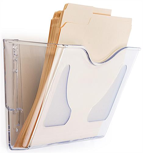 Angled Clear Acrylic Wall File Folder