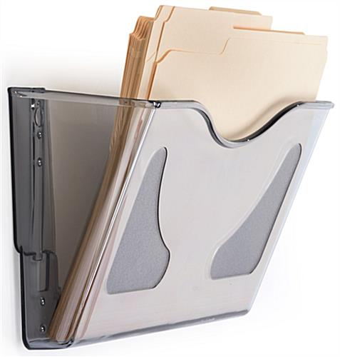 Angled Single Pocket Wall File Folder