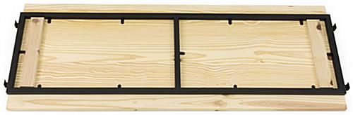 Stable Outrigger Add-On Unit with Light Wood Shelves