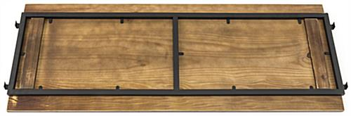 Wooden Add-On Shelves for Pipe Outrigger System