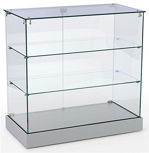 Showcase Counter   Locking Silver Cabinet Ships Unassembled