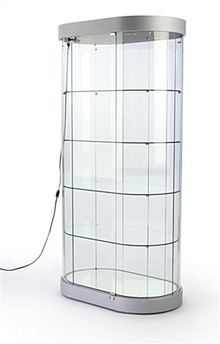 Oval Glass Display Cases