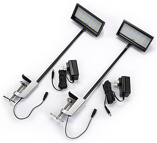 LED exhibit stem light set of 2 for exhibition backwall