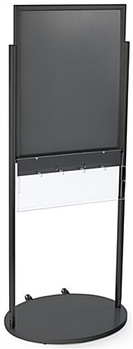 Black 22 x 28 Movable Poster Stand with 5 Literature Slots for Airport Vestibules