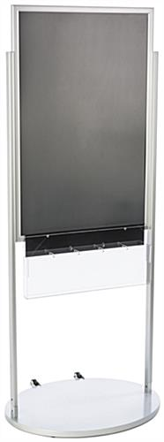 Mobile Silver 24 X 36 Poster Display with 10 Compartments