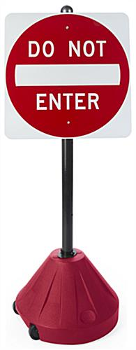 "Portable Do Not Enter Sign, 51.75"" Overall Height"