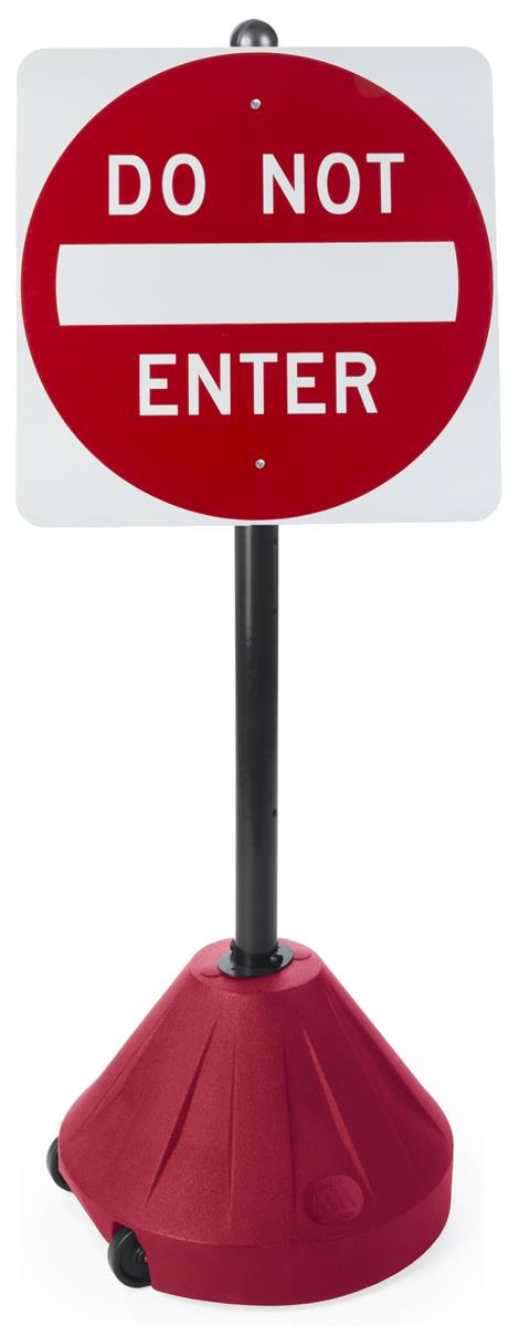 Portable Do Not Enter Sign Wind Resistant Outdoor Display