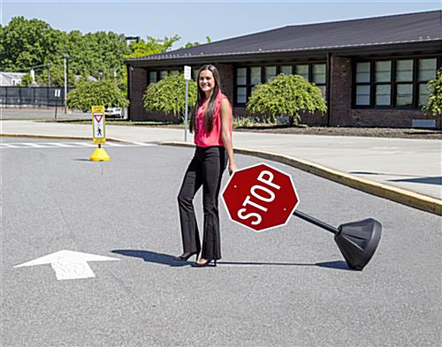 Portable Stop Sign, Retroreflective