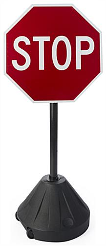 Portable Stop Sign, Aluminum