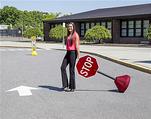 Portable Stop Sign Stand, Floor Standing