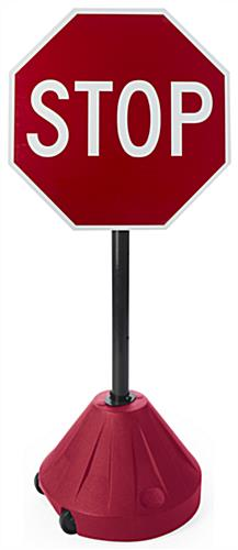 Portable Stop Sign Stand, Red