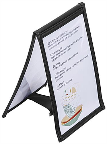 "4"" x 6"" Vinyl Table Tent with Double Stitched Edge"