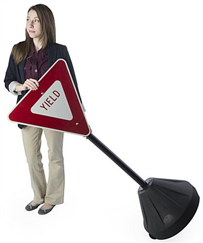 Yield Sign Stand, Retroreflective