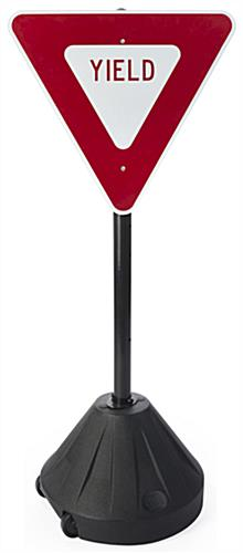 "Yield Sign Stand, 52"" Overall Height"