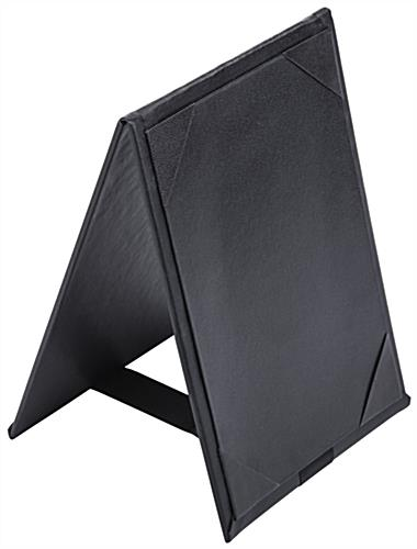 Leatherette Two Sided Table Tent
