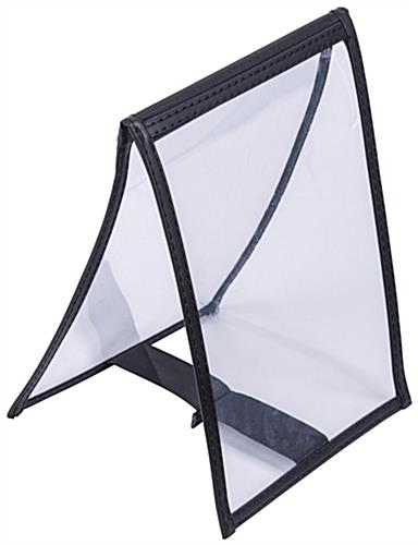 "5"" x 7"" Vinyl Table Tent with Protective Sleeves"