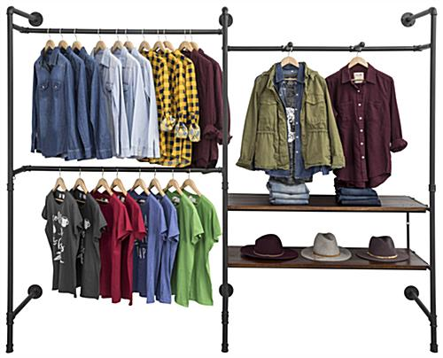 Industrial Outrigger Wall Unit for Showcasing Apparel