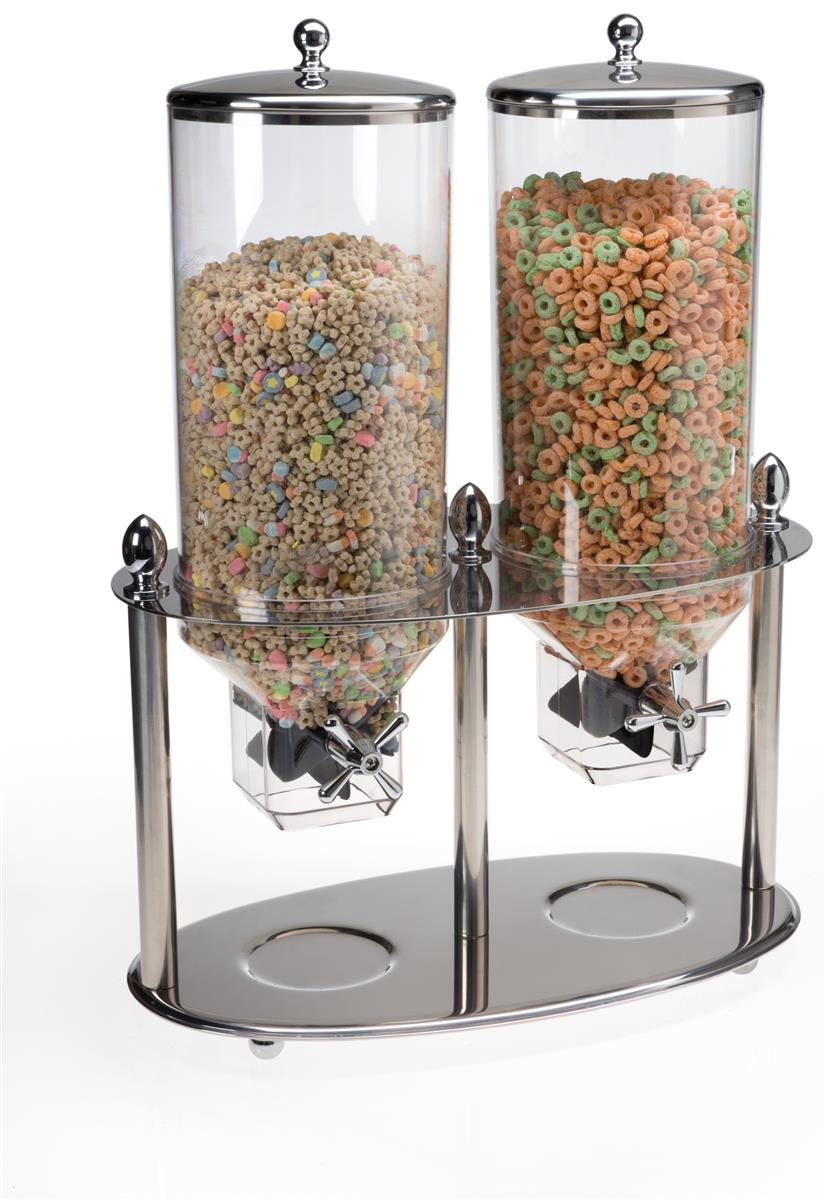 Double Cereal Dispensers 82 Servings Buffet Container
