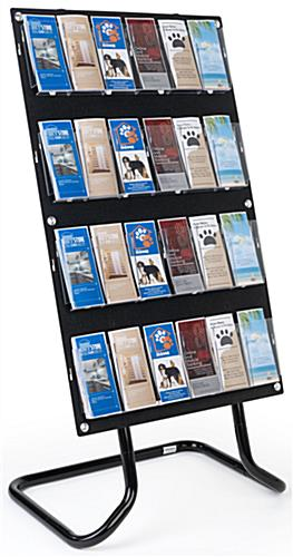 30.5 inch x 57.5 inch 4-tiered literature display with user-friendly assembly