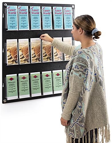 29.0 inch x 35.0 inch adjustable wall mounted literature holder is made in the USA