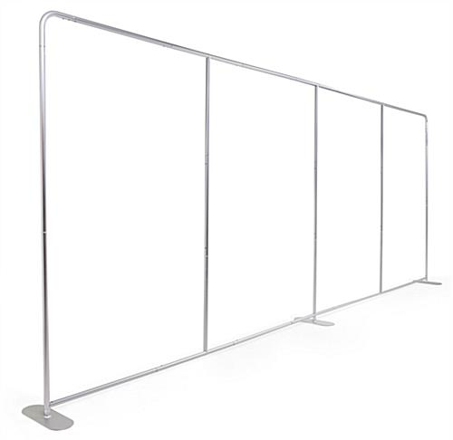 Stretch fabric tube display wall with aluminum frame
