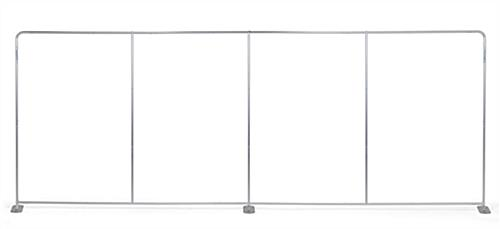 Stretch fabric tube display wall with snap button frame