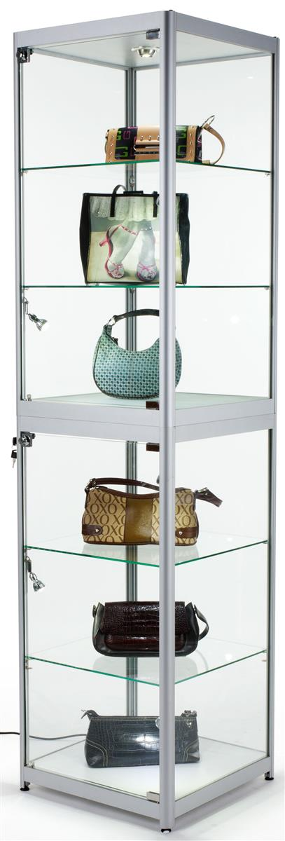 Portable Cabinets For Display : Trade show display case mobile locking glass cabinet