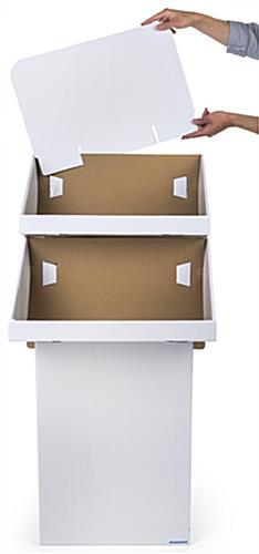 Cardboard Stand with 2 Tiers