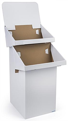 Cardboard Stand: 2 Tiers For Clearance Merchandise