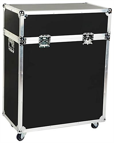 Portable Exhibition Display Cases : Black portable display case glass cabinet with enclosed