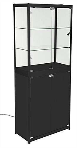 Black Portable Display Case ...