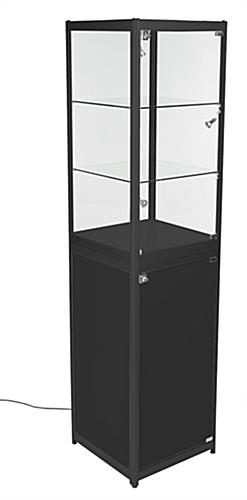 Glass Display Cabinet Showcases: Glass Display Tower With Enclosed