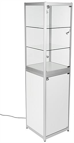 Exhibition Display Cabinet : Trade show exhibit case glass cabinet with travel