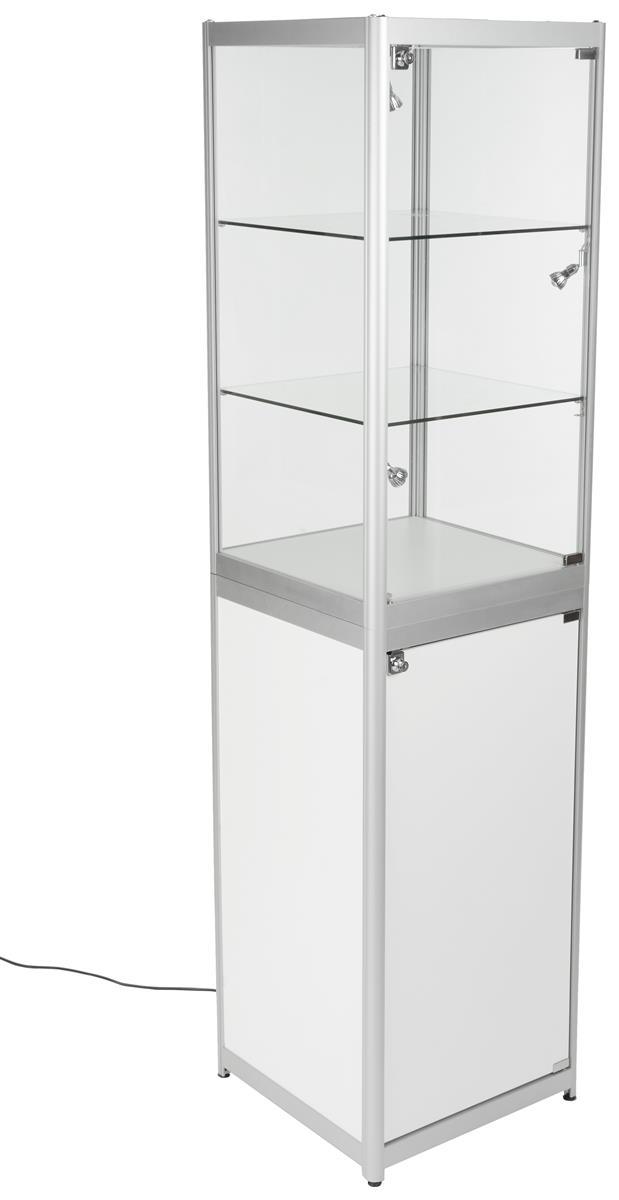 Exhibition Display Cases : Trade show display tower secure exhibit space locking