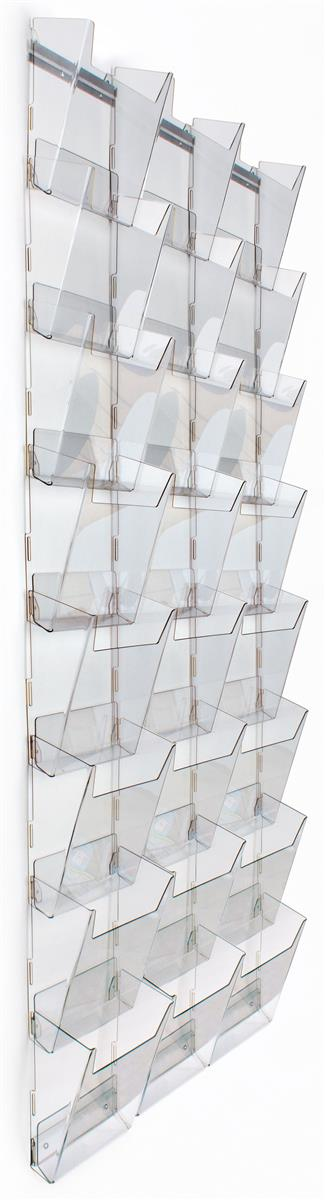 Displays2go Workshop Series 24-Pocket Magazine Rack for W...