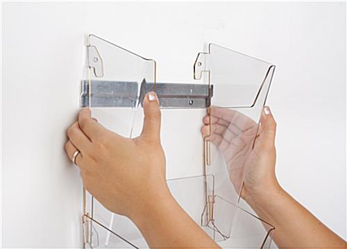 Hanging Magazine Holder with Hooks