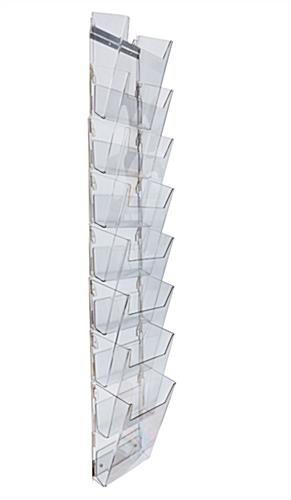 Hanging Magazine Holder 8 Full View Pockets Acrylic